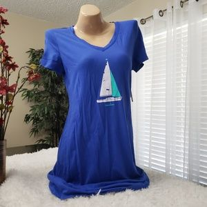 Nautica Royal Blue short sleeve sleepshirt NWT